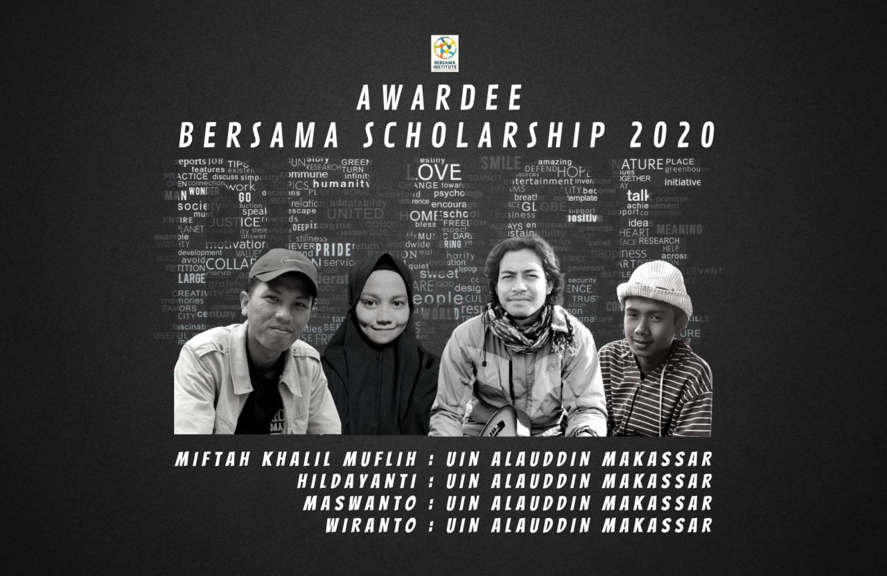 Empat Mahasiswa Studi Agama-Agama UIN Alauddin terima Beasiswa dari Bersama Institute
