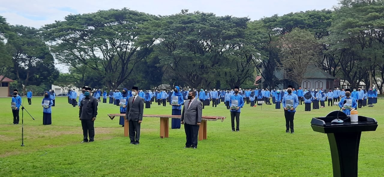 Gambar Gunakan Protokol Kesehatan, Rektor Lantik 246 PNS UIN Alauddin Makassar