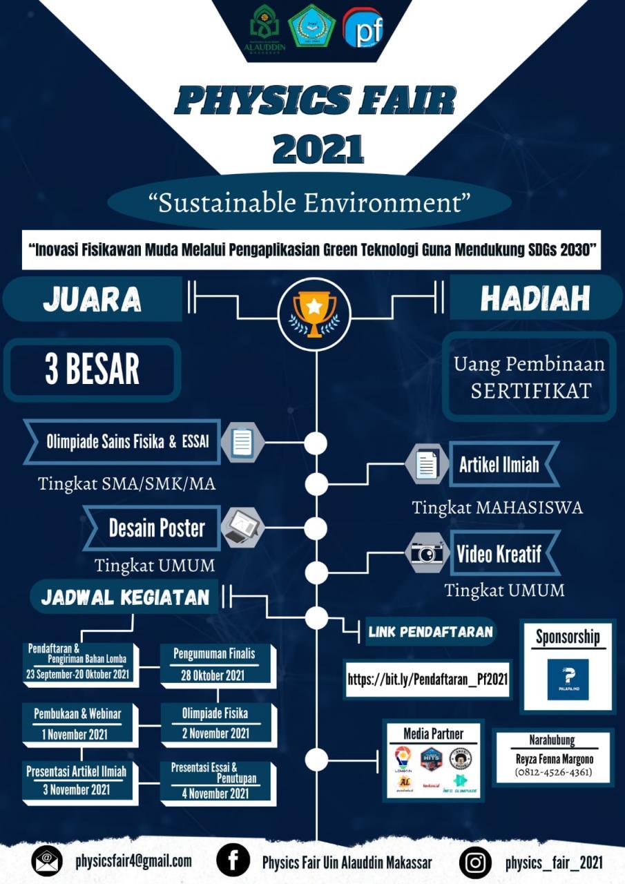 HMJ Fisika UIN Alauddin Buka Physics Fair 2021 Tingkat Nasional dan Sulselbar
