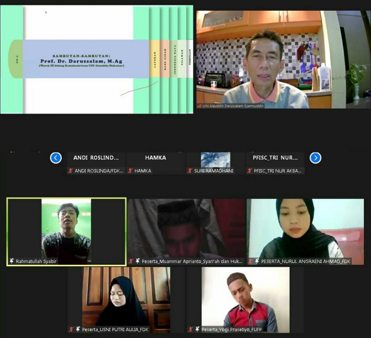 Gambar Kenalkan Dunia Kampus ke Maba 2021, UKM LDK Al Jami UIN Alauddin Gelar Talk Show