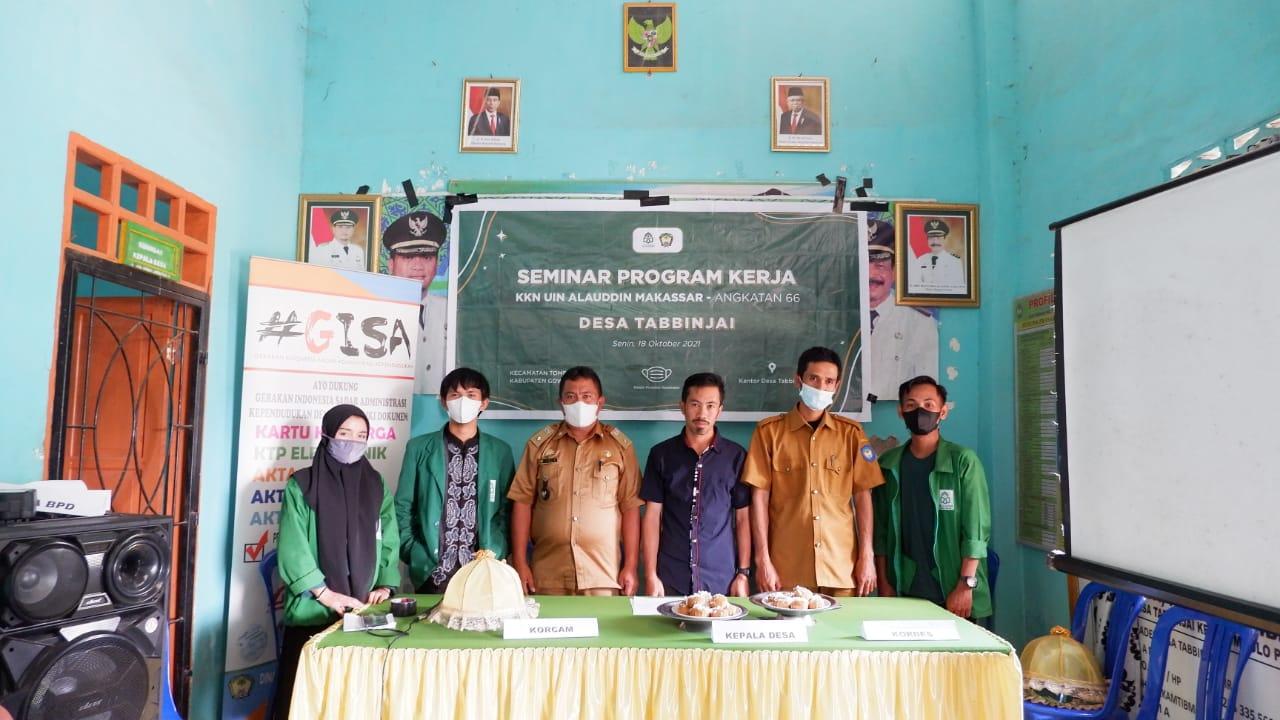KKN Tabbinjai Angkatan 66 UIN Alauddin Gelar Seminar Program Kerja