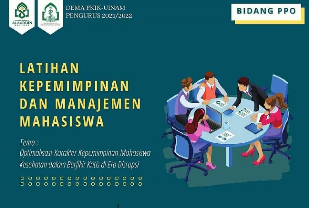 Optimalkan Karakter Kepemimpinan, Dema FKIK UIN Alauddin Bakal LKMM 2021