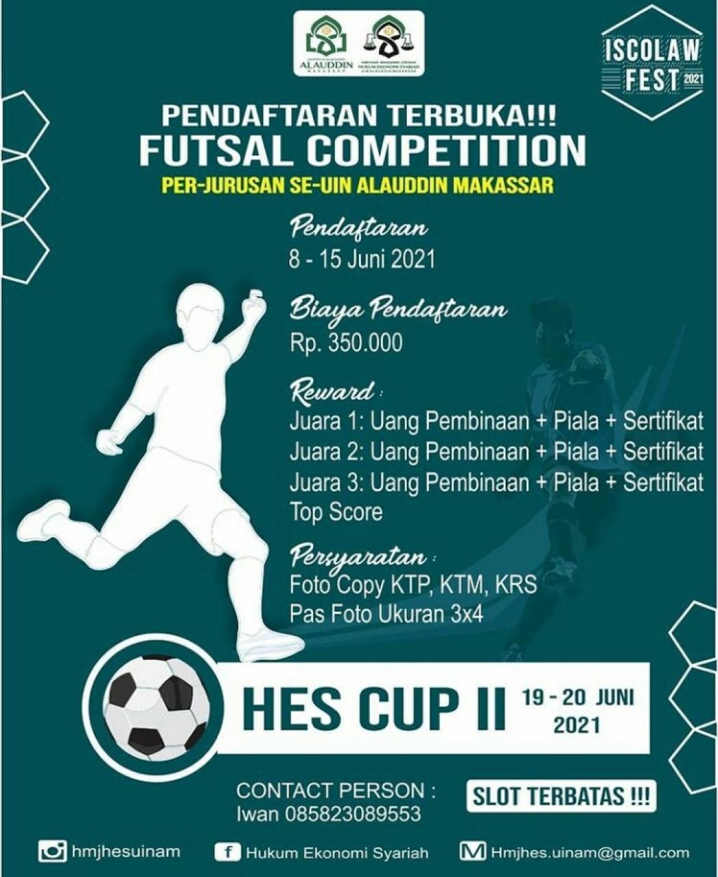 Gambar Perkuat Silaturahmi, HMJ HES UIN Alauddin Gelar Futsal Competition