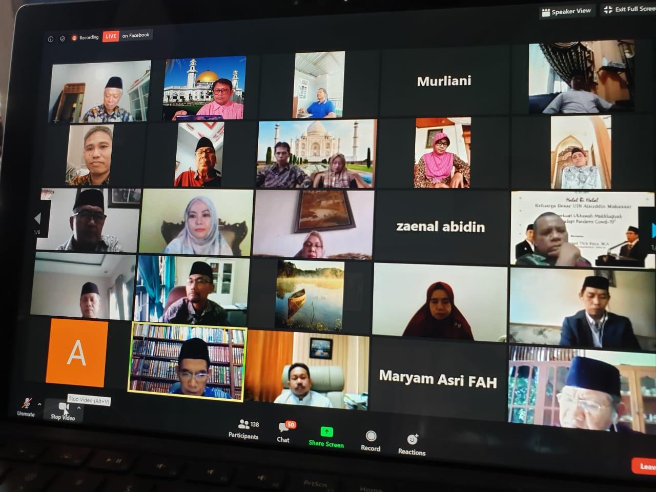 Prof Thib Raya Jelaskan Esensi Taubat dan Istigfar di Halal Bi Halal FAH UIN Alauddin