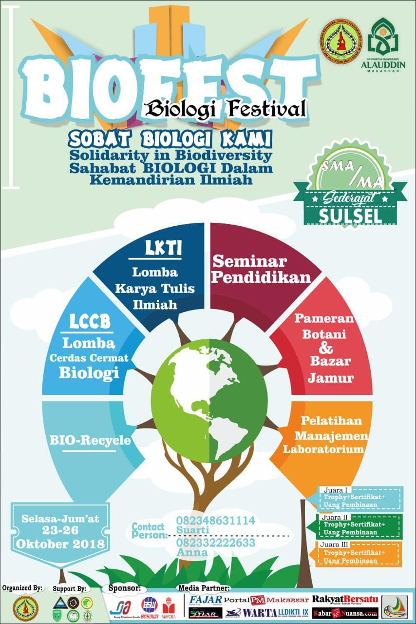 Meriahkan Biofest Hmj Pendidikan Biologi Gelar Berbagai Lomba Dan